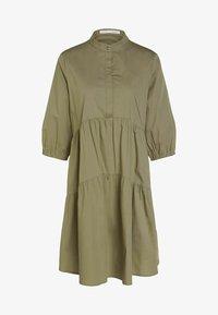 Oui - Shirt dress - khaki - 4