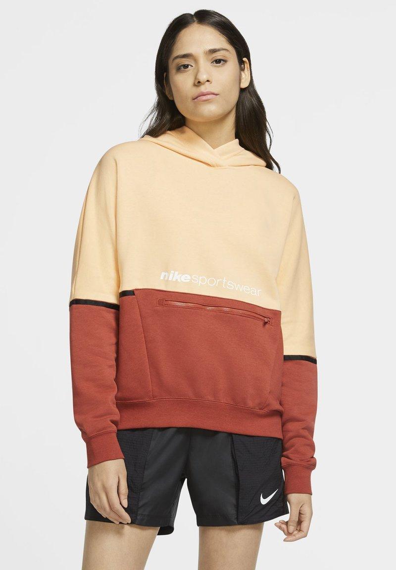 Nike Sportswear - HOODIE ARCHIVE - Hoodie - orange chalk/firewood orange/white