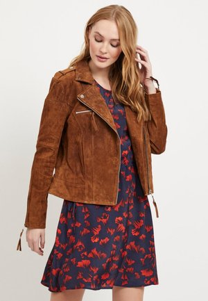 VICRIS - Leather jacket - brown
