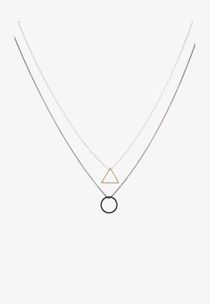 TRIGONOMETRY NECKLACE 2 PACK - Collier - black/silver-coloured