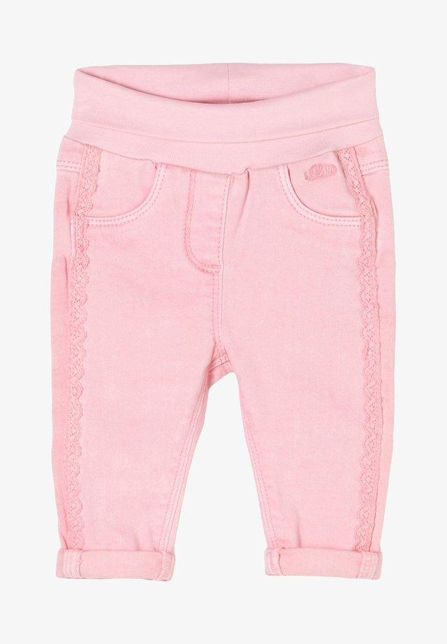 Straight leg jeans - light pink