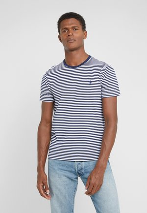 T-shirt z nadrukiem - white/newport navy