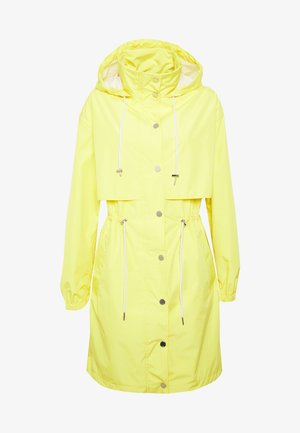 WATERPROOF ANORAK LOGO - Waterproof jacket - brilliant yellow