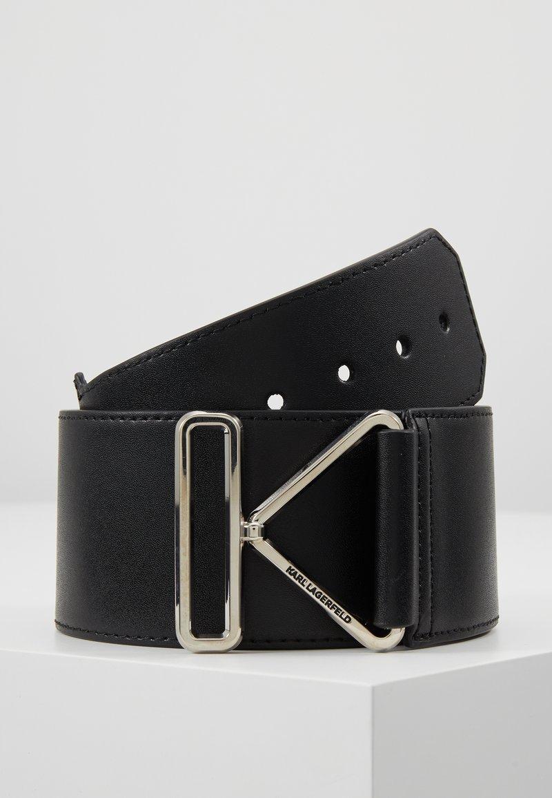KARL LAGERFELD - KARL TRIANGLE BELT - Waist belt - black