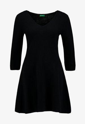 VNECK SKATER DRESS - Jumper dress - black