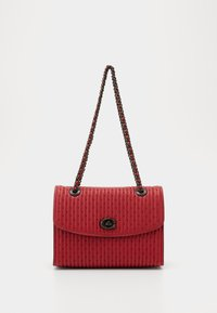 Coach - QUILTING WITH RIVETS PARKER SHOULDER BAG - Bolso de mano - red apple - 1