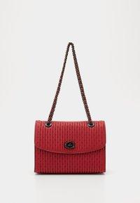 QUILTING WITH RIVETS PARKER SHOULDER BAG - Handbag - red apple