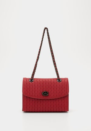 QUILTING WITH RIVETS PARKER SHOULDER BAG - Handbag - red apple