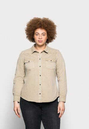 VMMARIA - Button-down blouse - silver mink