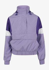Urban Classics Curvy - LADIES LIGHT JACKET - Summer jacket - lavender/ultraviolet/white - 0
