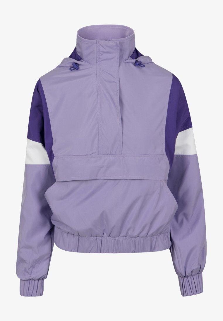 Urban Classics Curvy - LADIES LIGHT JACKET - Summer jacket - lavender/ultraviolet/white