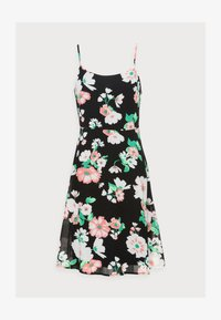STRAPPA FIT AND FLARE - Day dress - black/pink