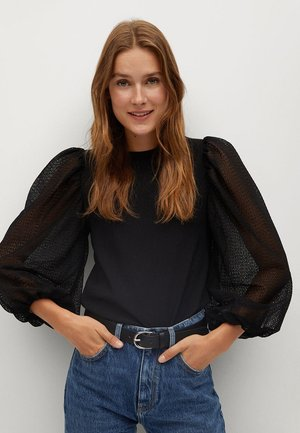 VELASCO - T-shirt à manches longues - black