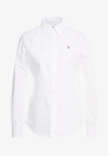 OXFORD KENDAL SLIM FIT - Button-down blouse - white