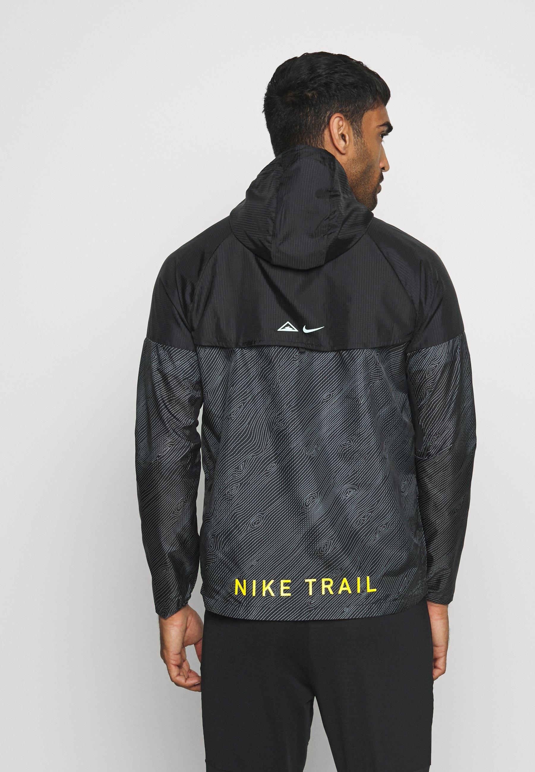 Ny Online Butik Tøj til herrer Nike Performance TRAIL Windbreakers black/laser crimson 11RyGJ 4pFRc9