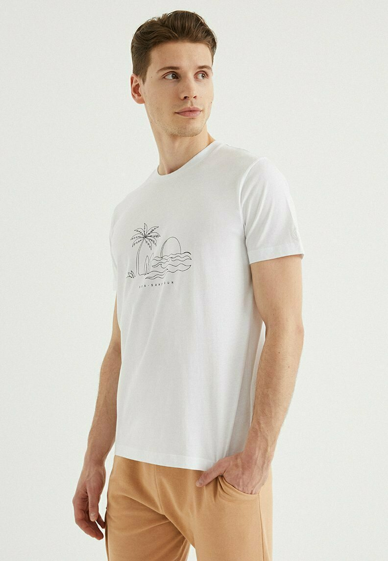 WESTMARK LONDON - SAND - Print T-shirt - white
