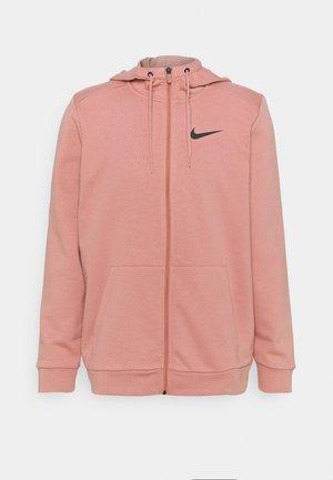 Zip-up hoodie - rust pink/black