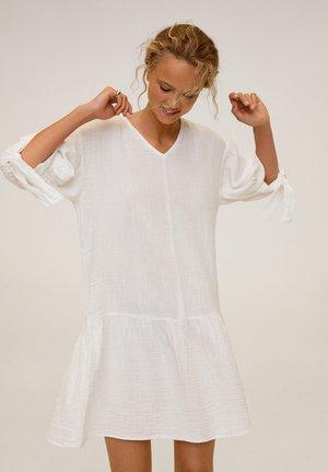 ADAM-H - Korte jurk - šedobílá