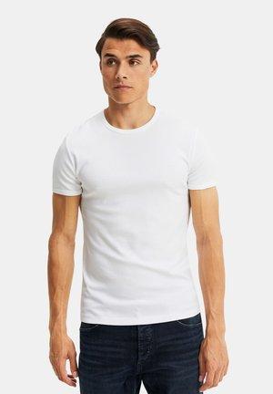 WE FASHION HEREN ORGANIC COTTON T-SHIRT - Basic T-shirt - white