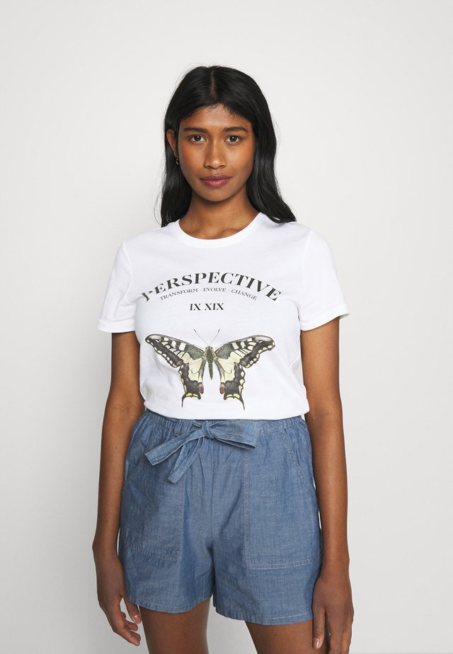 ONLLINA LIFE BOX - T-shirt z nadrukiem - bright white