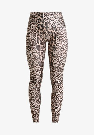 HIGH RISE LONG LEGGING - Punčochy - leopard