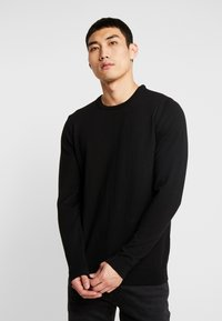 BY GARMENT MAKERS - THE MERINO KNIT ORGANIC - Strickpullover - anthracite - 0