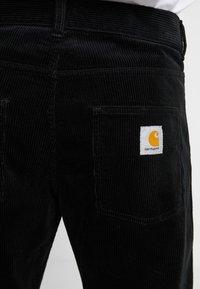 Carhartt WIP - NEWEL - Tygbyxor - black rinsed - 4