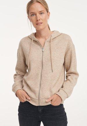 Zip-up sweatshirt - cashmere cream melange