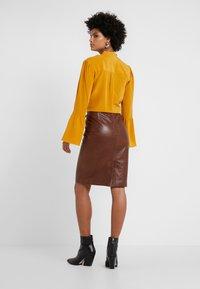 STUDIO ID - HANNAH LEATHER SKIRT - A-line skirt - brown - 2