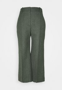 CROPPED FLARE - Trousers - green melange