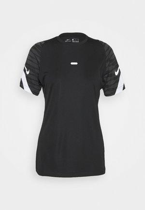 Print T-shirt - black/anthracite/white