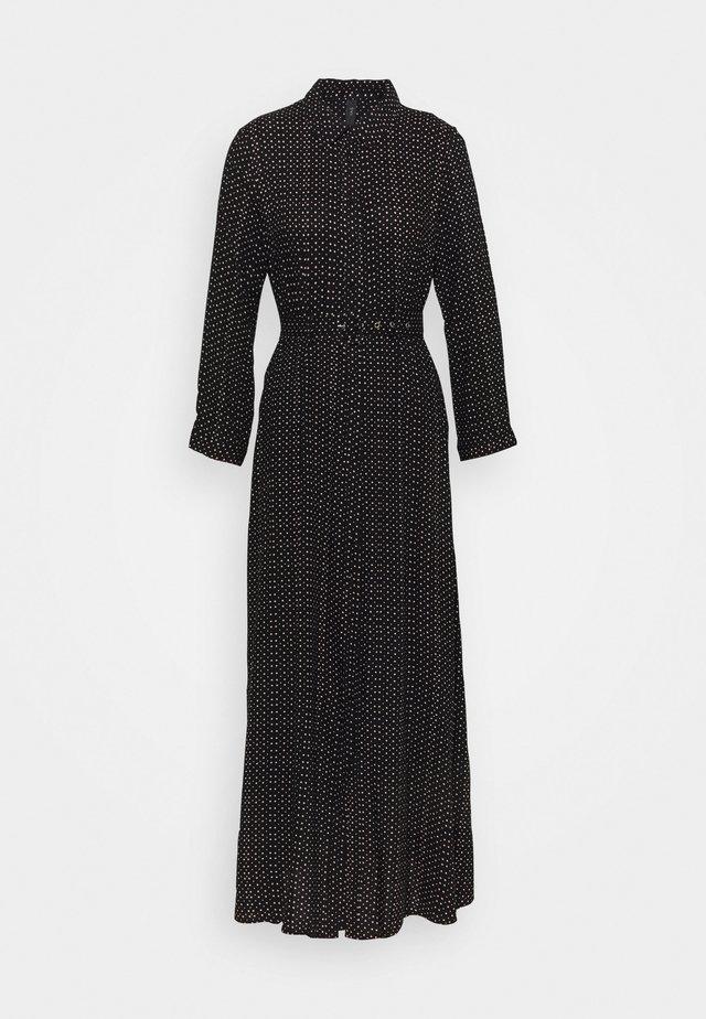 YASSAVANNA BELT ANKLE DRESS - Robe longue - black/light taupe