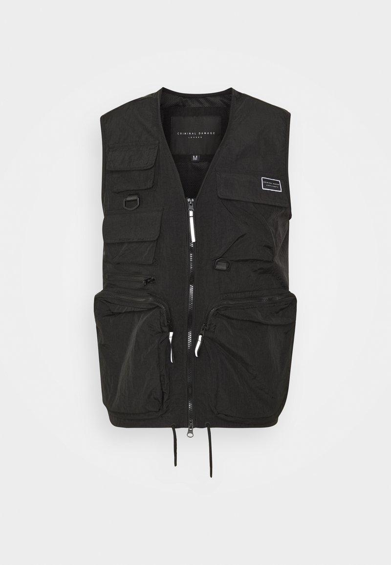 Criminal Damage - UTILITY VEST - Waistcoat - black