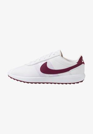 CORTEZ - Golf shoes - white/villain red/barely grape/plum dust