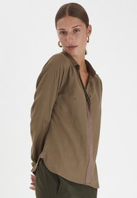 PULZ - PXPENNY   - Button-down blouse - crocodile - 0