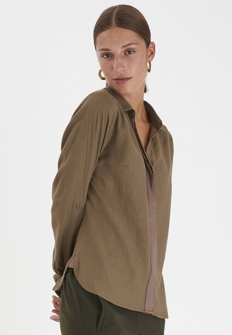 PULZ - PXPENNY   - Button-down blouse - crocodile