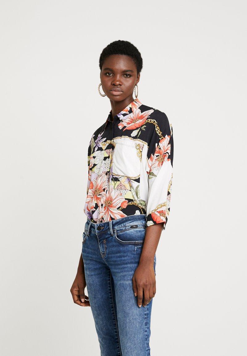 Mavi - Button-down blouse - antique white chain flower print