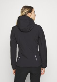 CMP - WOMAN JACKET ZIP HOOD - Soft shell jacket - antracite/bouganville - 2