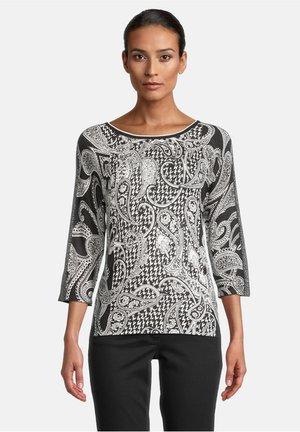Long sleeved top - schwarz/weiß