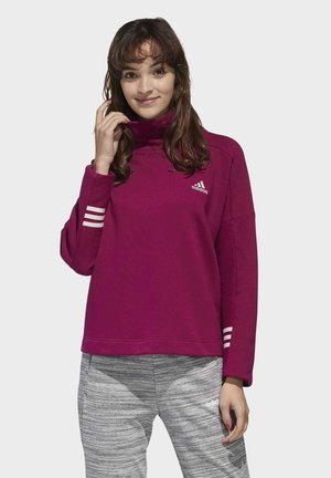 ESSENTIALS COMFORT FUNNEL NECK SWEATSHIRT - Sweater - purple