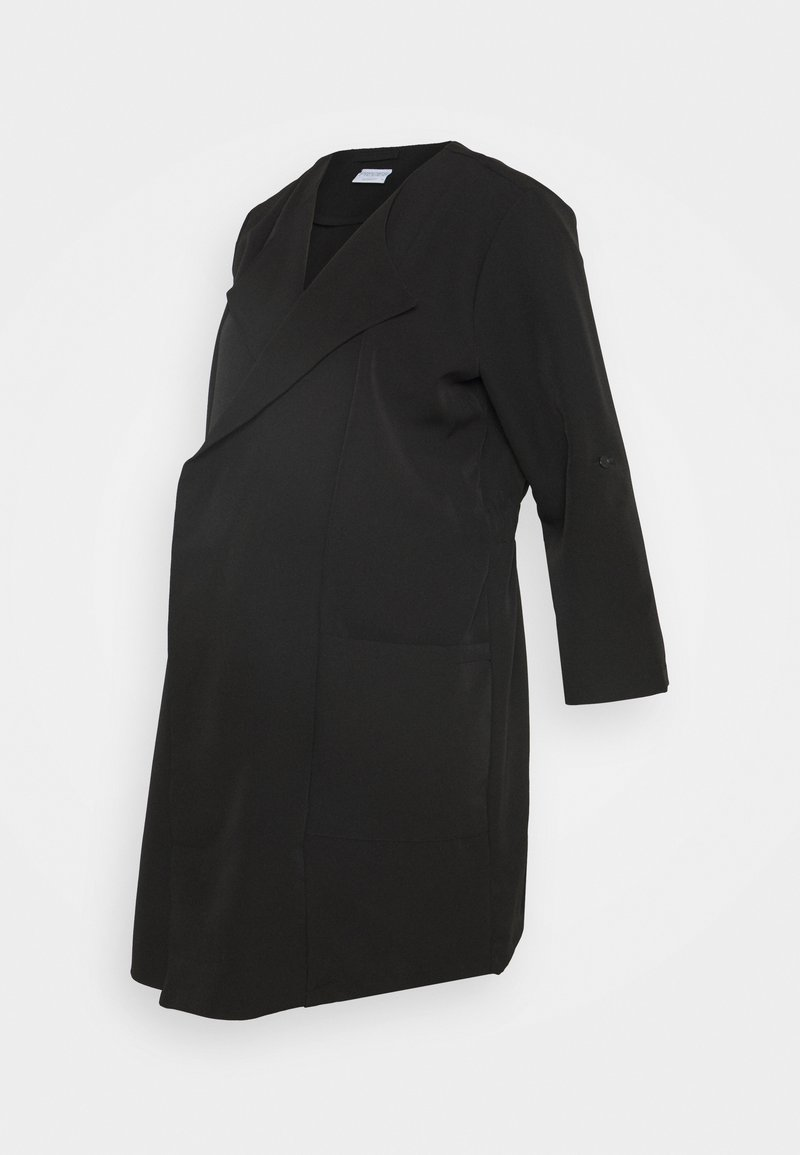 Pieces Maternity - PCMPAIGE COATIGAN - Abrigo corto - black