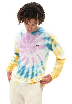 MN OFF THE WALL CLASSIC SPIRAL TIEDYE LS - Long sleeved top - saffron