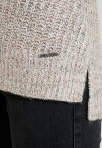 Abercrombie & Fitch - LONG FUZZY - Svetr - pink/grey