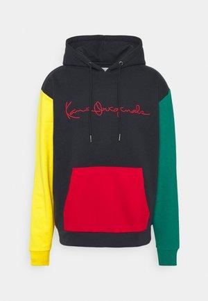 ORIGINALS BLOCK HOODIE UNISEX - Sweater - navy/green/yellow