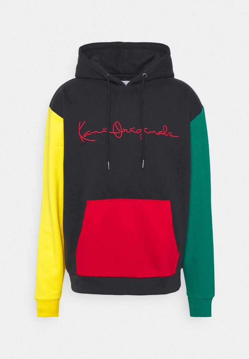 Karl Kani - ORIGINALS BLOCK HOODIE UNISEX - Mikina - navy/green/yellow