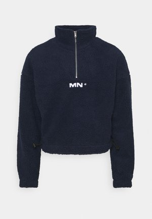 BOXY FUNNEL NECK OVERHEAD - Fleecegenser - navy