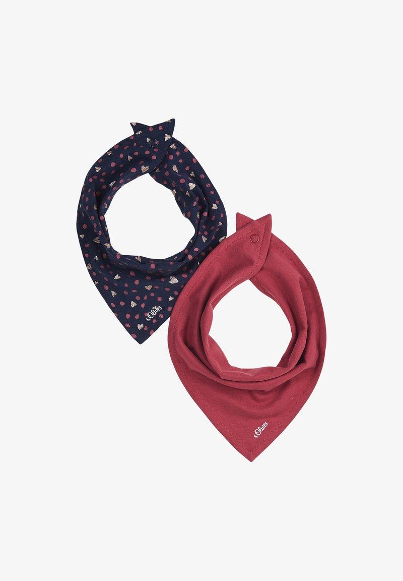 s.Oliver - Scarf - dark blue aop/pink uni