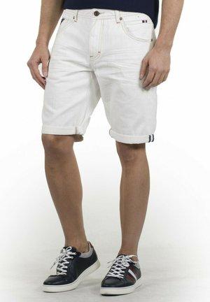 BERMUDA - Shorts vaqueros - blanco
