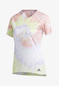 adidas Performance - RISE UP 'N RUN SANTA MONICA T-SHIRT - Print T-shirt - red - 8