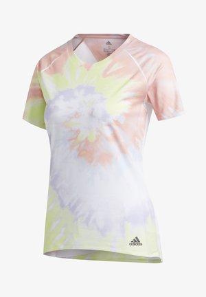 RISE UP 'N RUN SANTA MONICA T-SHIRT - T-shirt z nadrukiem - red